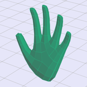 Subdivided hand from Pixar's character modeling lesson