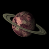 Planet image created using the HTML5 Canvas pixel array