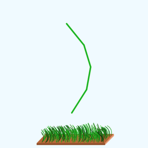 Program to animate a small field of grass
