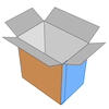 Image of a folded box in 3D