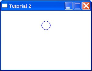 One circle in  a pygame window